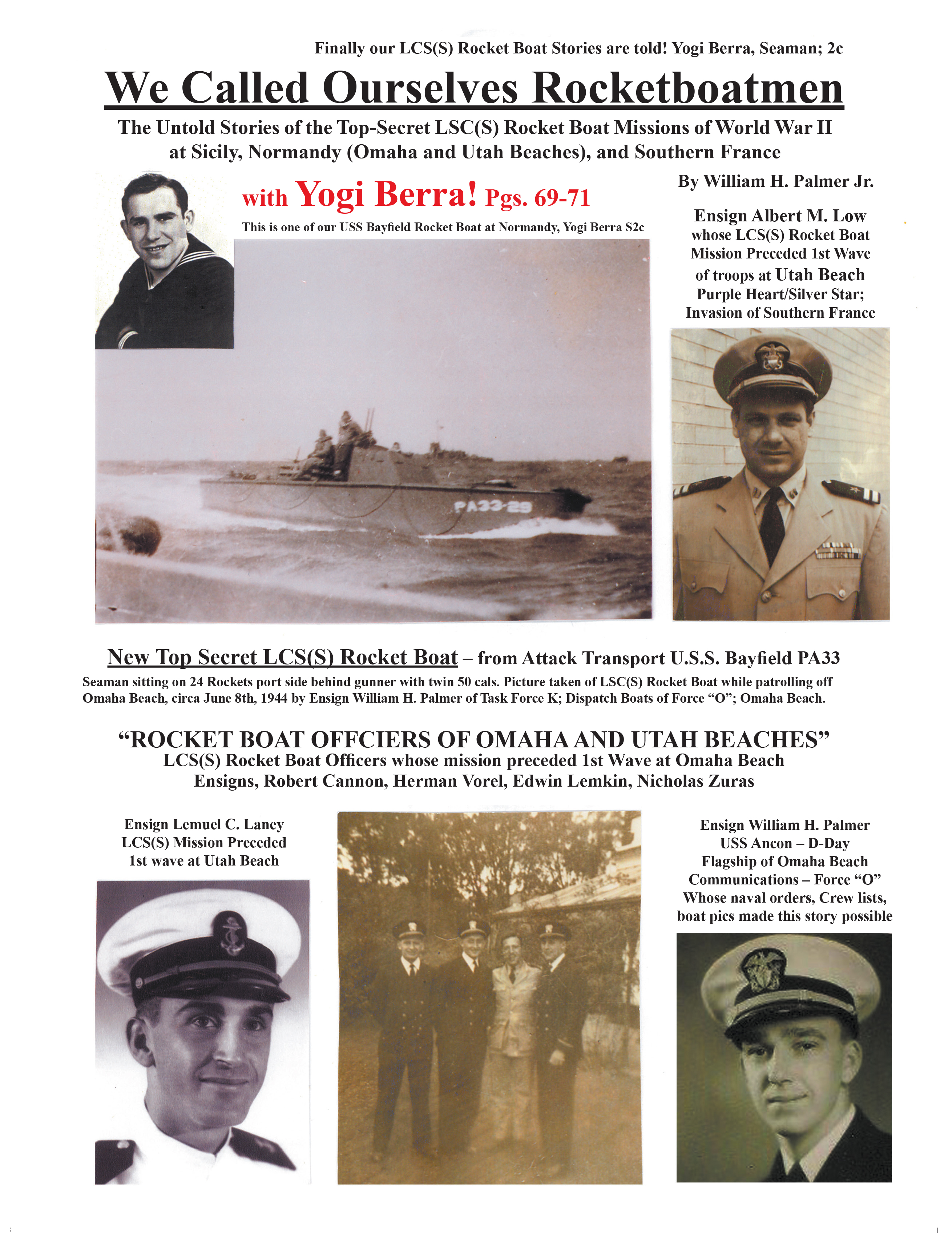 We Called Ourselves Rocketboatmen: The Untold Stories of the Top-Secret LSC(S) Rocket Boat Missions of World War II at Sicily, Normandy (Omaha and Utah Beaches), and Southern France